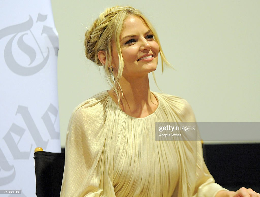 Actress <a gi-track='captionPersonalityLinkClicked' href=/galleries/search?phrase=Jennifer+Morrison&family=editorial&specificpeople=233495 ng-click='$event.stopPropagation()'>Jennifer Morrison</a> participates in a Q&A following the premiere of 'Some Girl(s)' at Laemmle NoHo 7 on June 26, 2013 in North Hollywood, California.