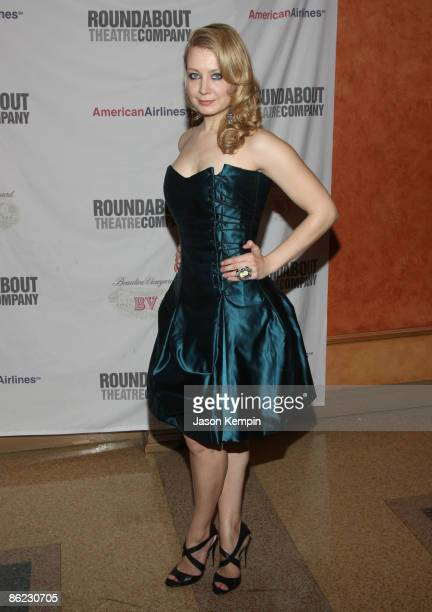 Actress Jennifer Mudge attends 'The Philanthropist' Broadway opening night party at the Roundabout Theatre Company's American Airlines Theatre on...