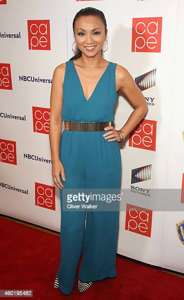 Actress Jennifer Paz arrives at CAPE's Celeb Studded Holiday Party at El Rey Theatre on December 8 2014 in Los Angeles California