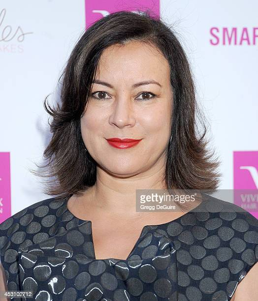 Actress Jennifer Tilly arrives at the Vivica A Fox 50th Birthday party at Philippe Chow on August 2 2014 in Beverly Hills California
