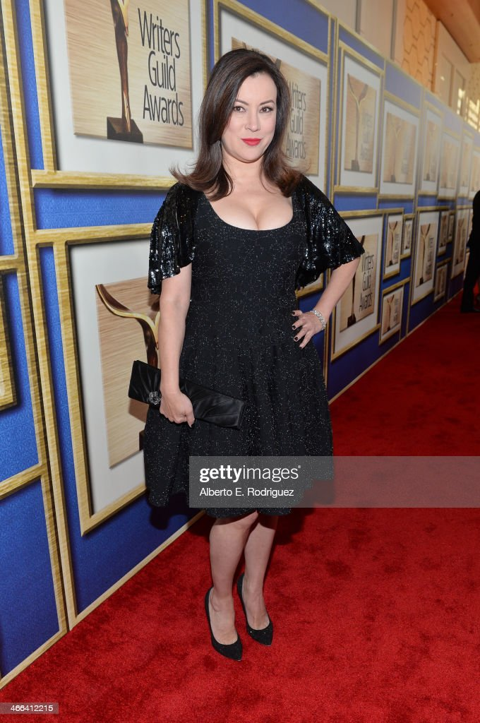 Actress <a gi-track='captionPersonalityLinkClicked' href=/galleries/search?phrase=Jennifer+Tilly&family=editorial&specificpeople=202575 ng-click='$event.stopPropagation()'>Jennifer Tilly</a> attends the 2014 Writers Guild Awards L.A. Ceremony at J.W. Marriott at L.A. Live on February 1, 2014 in Los Angeles, California.