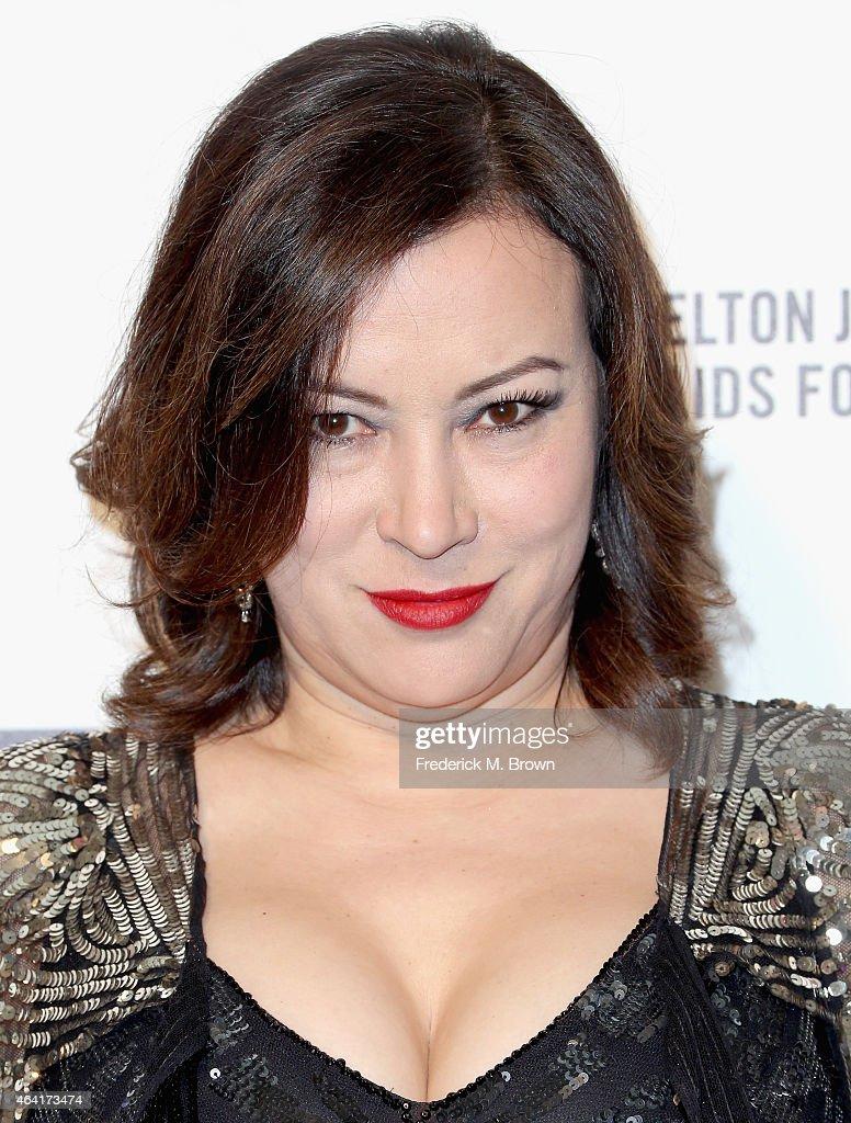 actress jennifer tilly attends the 23rd annual elton john aids