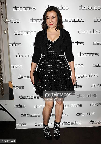 Actress Jennifer Tilly attends the Decades Les Must De Moschino event at Decades on March 20 2014 in Los Angeles California