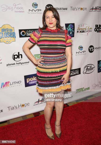 Actress Jennifer Tilly attends the Raising the Stakes Celebrity Charity Poker Tournament benefiting the One Step Closer Foundation at Planet...