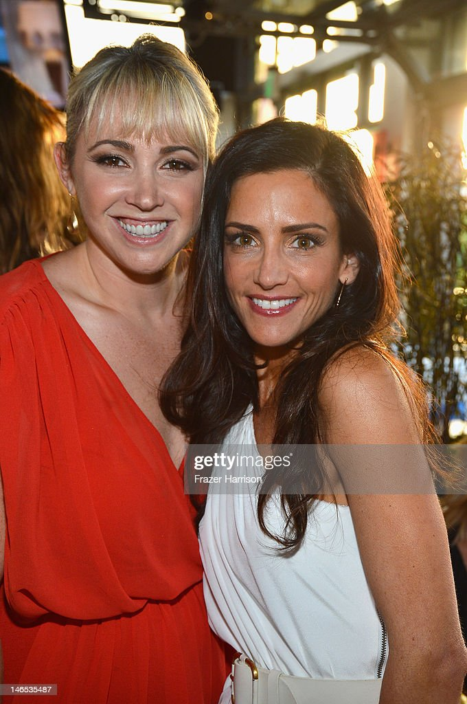 Actress Jennifer Tisdale (L) and TV personality Emily Morse attend the season premiere viewing party of Bravo's 'Miss Advised' hosted by Executive Producer Ashley Tisdale held at Planet Dailies & Mixology 101 on June 18, 2012 in Los Angeles, California.