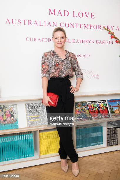 Actress Jennifer Ulrich attends the 'Mad Love' australian contemporary artists group exhibition opening at Arndt Art Agency on June 6 2017 in Berlin...