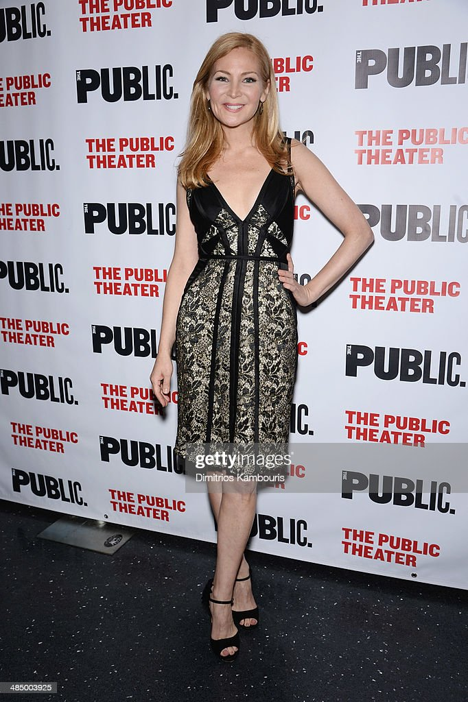 Actress <a gi-track='captionPersonalityLinkClicked' href=/galleries/search?phrase=Jennifer+Westfeldt&family=editorial&specificpeople=228494 ng-click='$event.stopPropagation()'>Jennifer Westfeldt</a> attends 'The Library' opening night celebration at The Public Theater on April 15, 2014 in New York City.