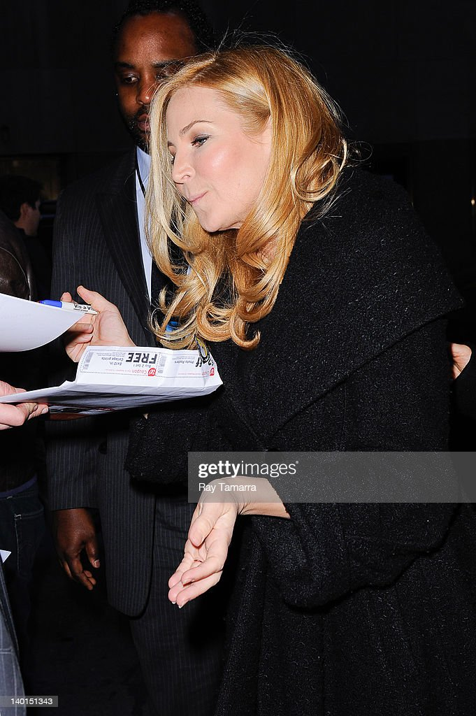 Actress Jennifer Westfeldt enters the 'Late Night With Jimmy Fallon' taping at the NBC Rockefeller Center Studios on February 28, 2012 in New York City.