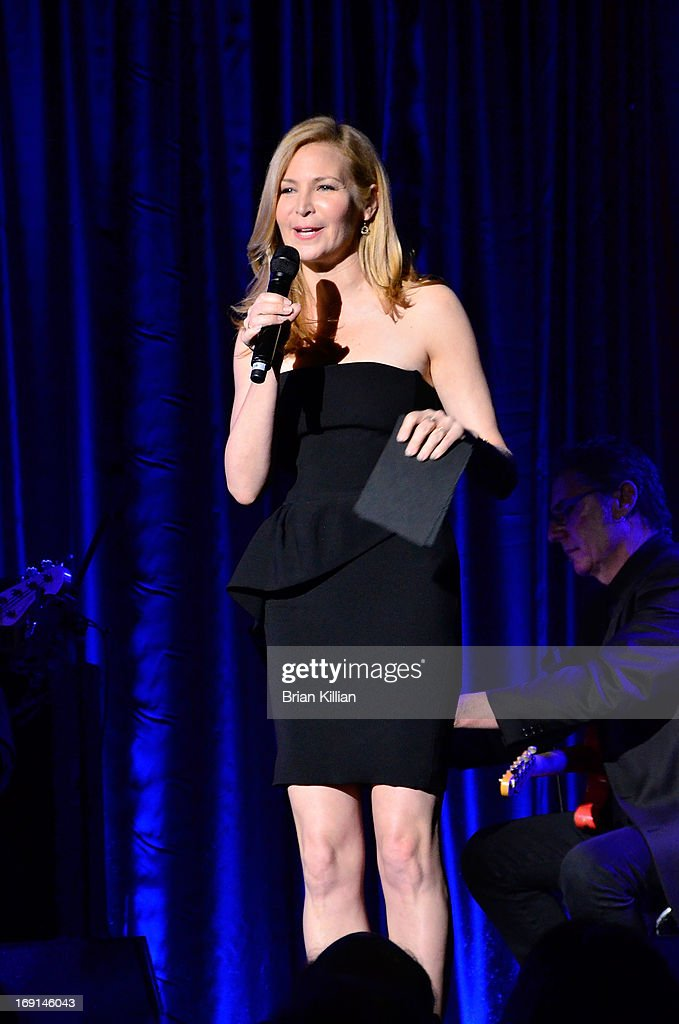 Actress <a gi-track='captionPersonalityLinkClicked' href=/galleries/search?phrase=Jennifer+Westfeldt&family=editorial&specificpeople=228494 ng-click='$event.stopPropagation()'>Jennifer Westfeldt</a> poerforms during the Manhattan Theatre Club 2013 Spring Gala at Cipriani 42nd Street on May 20, 2013 in New York City.
