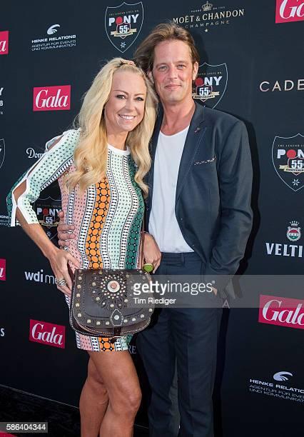 Actress Jenny Elvers and Steffen von der Beeck attend the anniversary event '55 Jahre Pony Club Kampen' presented by Gala magazine on August 5 2016...