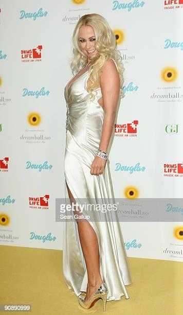 Actress Jenny ElversElbertzhagen attends the dreamball 2009 charity gala at the RitzCarlton on September 17 2009 in Berlin Germany