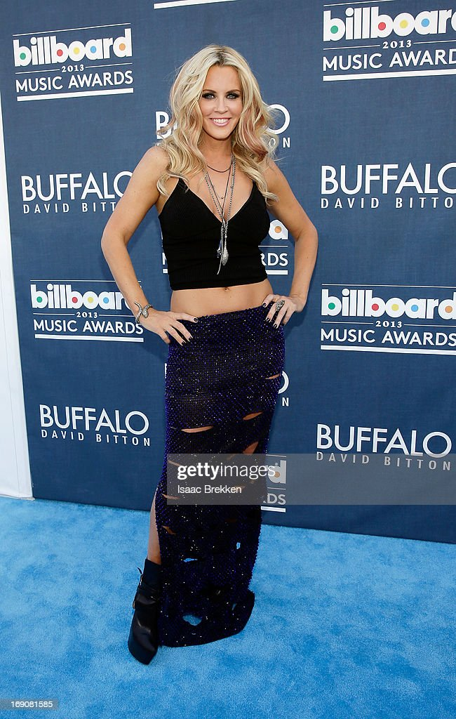 Actress Jenny McCarthy arrives at the Buffalo David Bitton red carpet at the 2013 Billboard Music Awards at the MGM Grand Garden Arena on May 19, 2013 in Las Vegas, Nevada.