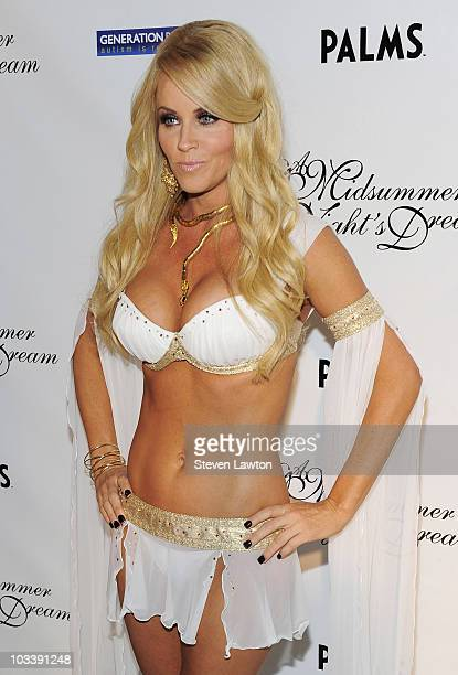Actress Jenny McCarthy arrives to host the 4th annual Midsummer Night's Dream at The Palms Casino Resort on August 14 2010 in Las Vegas Nevada