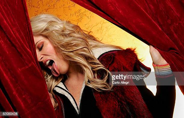 Actress Jenny McCarthy from the film 'Dirty Love' poses for portraits during the 2005 Sundance Film Festival January 22 2005 in Park City Utah