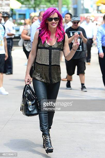 Actress Jenny McCarthy leaves the Sirius XM Studios on July 29 2015 in New York City