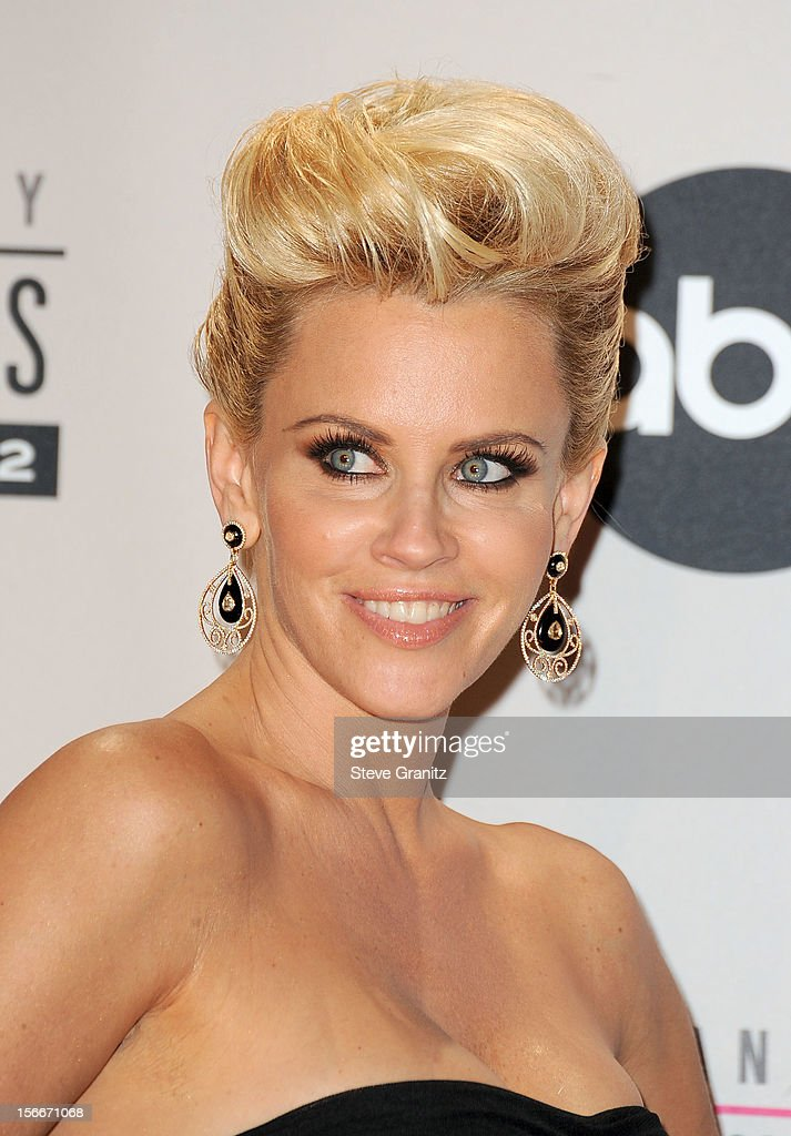 Actress Jenny McCarthy poses in the press room at the 40th Anniversary American Music Awards held at Nokia Theatre L.A. Live on November 18, 2012 in Los Angeles, California.