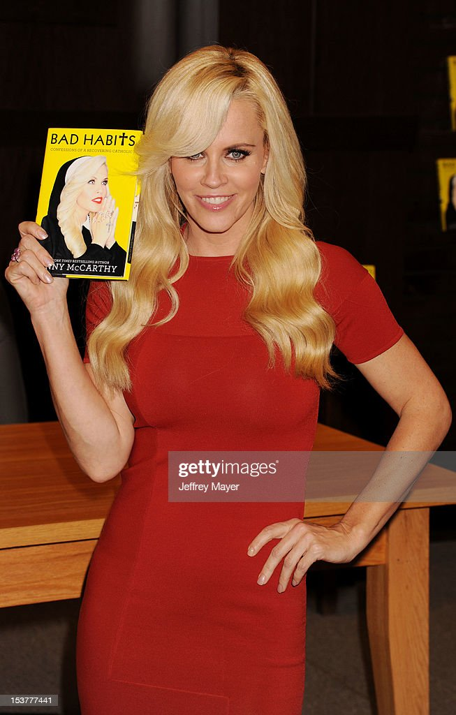 Actress Jenny McCarthy signs copies of her new book 'Bad Habits' at Barnes & Noble bookstore at The Grove on October 8, 2012 in Los Angeles, California.