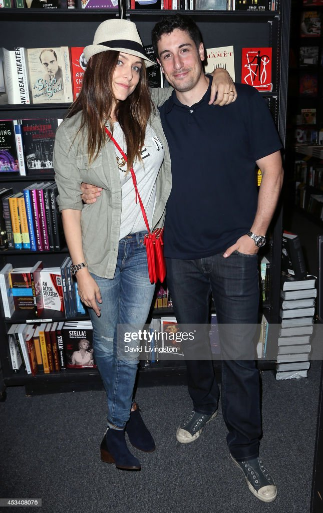 Actress Jenny Mollen and husband actor Jason Biggs attend a signing for her book 'I Like You Just the Way I Am Stories About Me and Some Other...