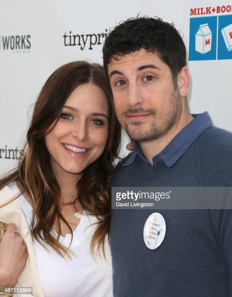 Actress Jenny Mollen and husband Jason Biggs attend Milk Bookies 5th Annual Story Time Celebration at the Skirball Cultural Center on April 27 2014...