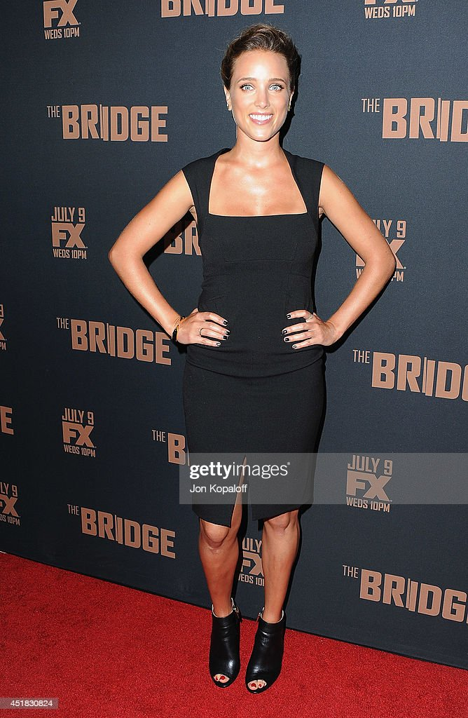 Actress Jenny Pellicer arrives at the FX's 'The Bridge' Season 2 Premiere at Pacific Design Center on July 7, 2014 in West Hollywood, California.