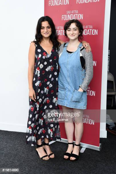 Actress Jenny Slate and Abby Quinn pose during SAGAFTRA Foundation Conversations 'Landline' at SAGAFTRA Foundation Robin Williams Center on July 20...