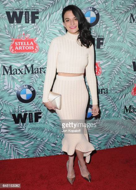 Actress Jenny Slate arrives at the 10th Annual Women In Film PreOscar Cocktail Party at Nightingale Plaza on February 24 2017 in Los Angeles...