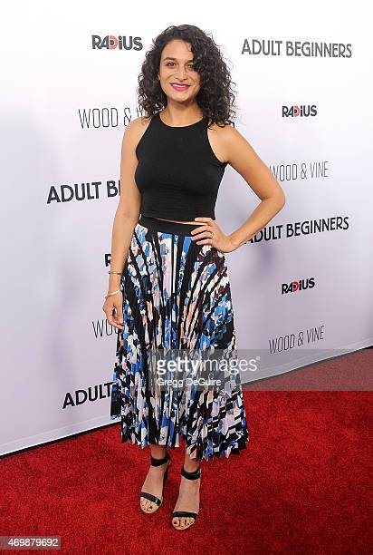 Actress Jenny Slate arrives at the Los Angeles premiere of 'Adult Beginners' at ArcLight Hollywood on April 15 2015 in Hollywood California