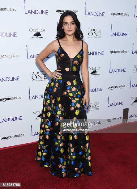 Actress Jenny Slate arrives at the premiere of Amazon Studios' 'Landline' at the ArcLight Hollywood on July 12 2017 in Hollywood California