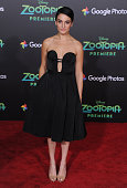 Actress Jenny Slate arrives at the premiere of Walt Disney Animation Studios' 'Zootopia' at the El Capitan Theatre on February 17 2016 in Hollywood...