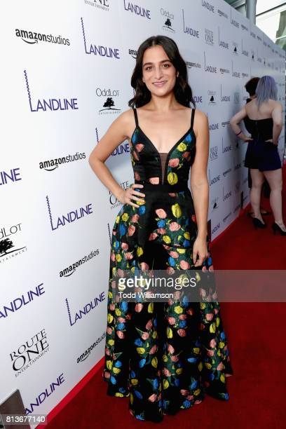 Actress Jenny Slate attends the Los Angeles premiere of 'Landline' at ArcLight Hollywood Cinemas on July 12 2017 in Los Angeles California