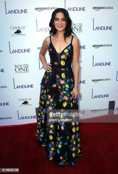 Actress Jenny Slate attends the premiere of Amazon Studios' 'Landline' at ArcLight Hollywood on July 12 2017 in Hollywood California