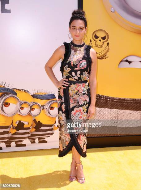 Actress Jenny Slate attends the premiere of 'Despicable Me 3' at The Shrine Auditorium on June 24 2017 in Los Angeles California