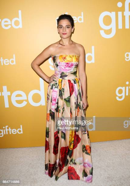 Actress Jenny Slate attends the premiere of 'Gifted' at Pacific Theaters at the Grove on April 4 2017 in Los Angeles California