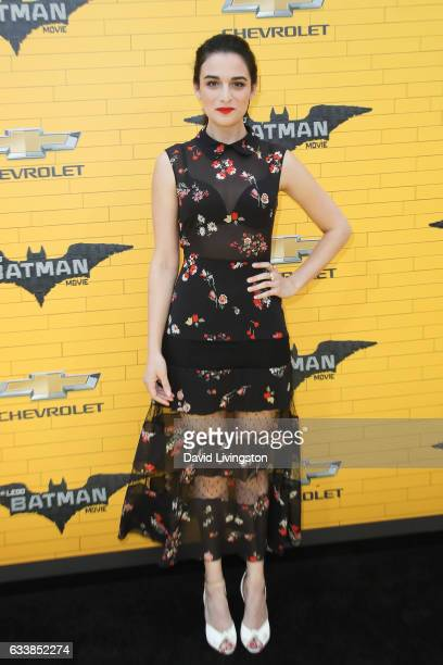 Actress Jenny Slate attends the Premiere of Warner Bros Pictures' 'The LEGO Batman Movie' at the Regency Village Theatre on February 4 2017 in...