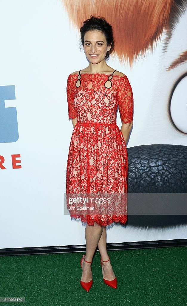 Actress Jenny Slate attends the 'Secret Life Of Pets' New York premiere on June 25, 2016 in New York City.