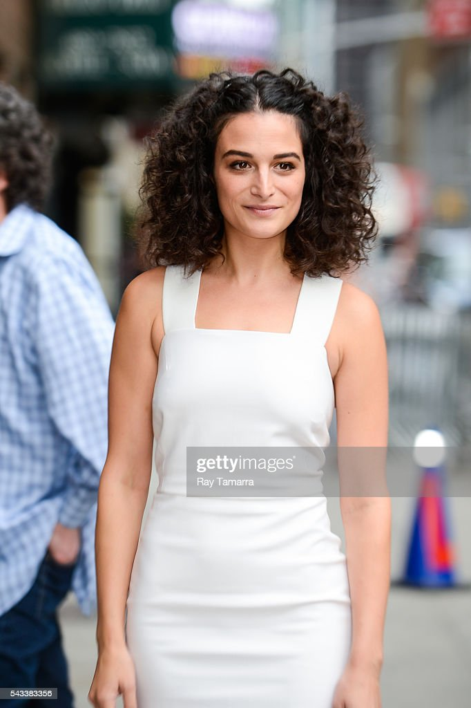 Actress <a gi-track='captionPersonalityLinkClicked' href=/galleries/search?phrase=Jenny+Slate&family=editorial&specificpeople=6250499 ng-click='$event.stopPropagation()'>Jenny Slate</a> enters 'The Late Show With Stephen Colbert' taping at the Ed Sullivan Theater on June 27, 2016 in New York City.