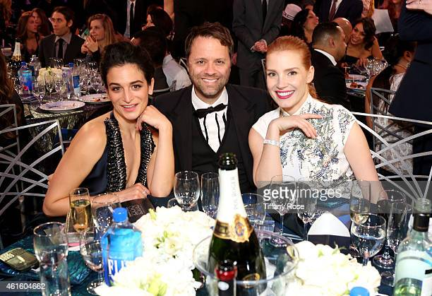 Actress Jenny Slate guest and Jessica Chastain attend the 20th annual Critics' Choice Movie Awards at the Hollywood Palladium on January 15 2015 in...