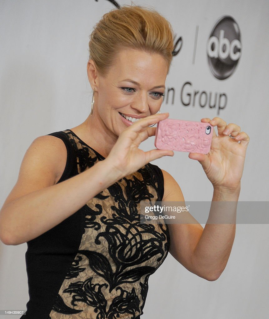 Actress Jeri Ryan arrives at the 2012 Disney ABC Television TCA summer press tour party at The Beverly Hilton Hotel on July 27, 2012 in Beverly Hills, California.