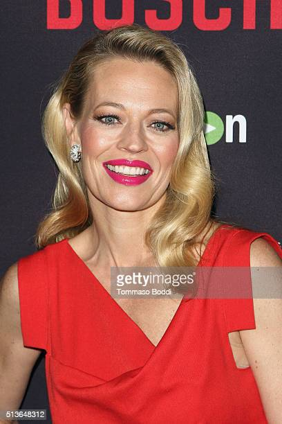Actress Jeri Ryan attends the Premiere Of Amazon's 'Bosch' Season 2 held at the SilverScreen Theater at the Pacific Design Center on March 3 2016 in...