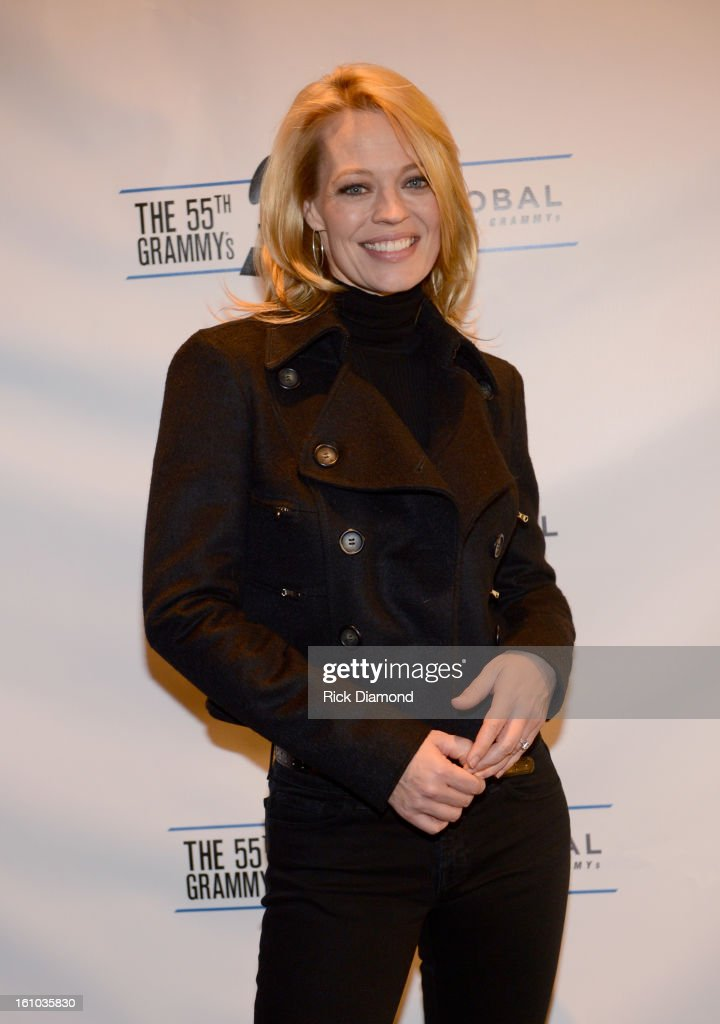 Actress <a gi-track='captionPersonalityLinkClicked' href=/galleries/search?phrase=Jeri+Ryan&family=editorial&specificpeople=239502 ng-click='$event.stopPropagation()'>Jeri Ryan</a> poses backstage at the GRAMMYs Dial Global Radio Remotes during The 55th Annual GRAMMY Awards at the STAPLES Center on February 8, 2013 in Los Angeles, California.