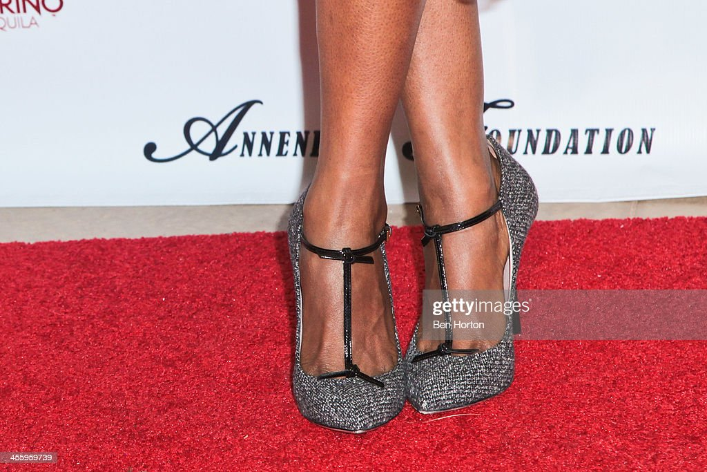 Actress Jerrika Hinton (shoe detail) attends the Debbie Allen Dance Academy's 'All-Star Gala' at Royce Hall, UCLA on December 12, 2013 in Westwood, California.
