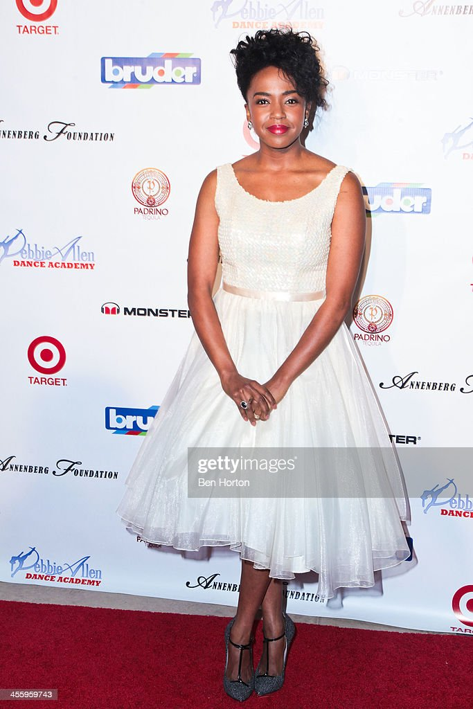 Actress <a gi-track='captionPersonalityLinkClicked' href=/galleries/search?phrase=Jerrika+Hinton&family=editorial&specificpeople=10116681 ng-click='$event.stopPropagation()'>Jerrika Hinton</a> attends the Debbie Allen Dance Academy's 'All-Star Gala' at Royce Hall, UCLA on December 12, 2013 in Westwood, California.