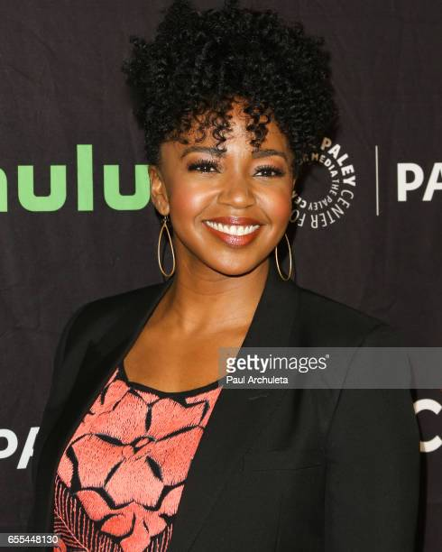 Actress Jerrika Hinton attends the The Paley Center For Media's 34th Annual PaleyFest Los Angeles 'Grey's Anatomy' at Dolby Theatre on March 19 2017...