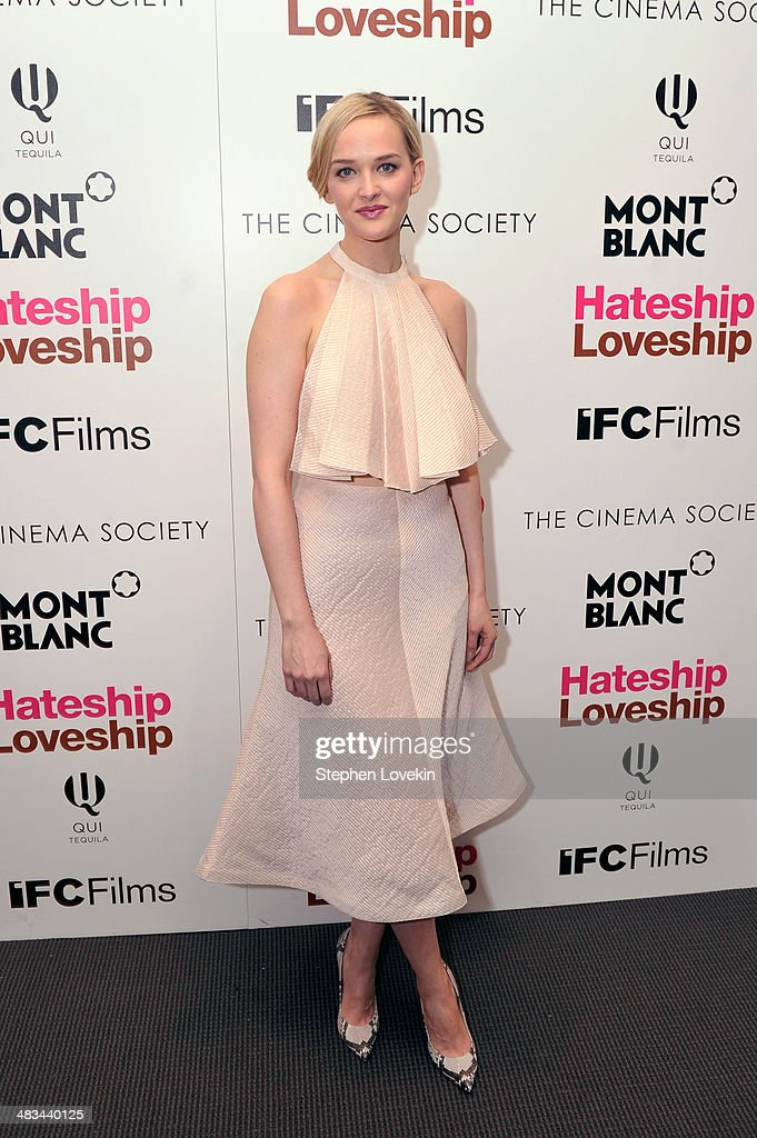 Actress <a gi-track='captionPersonalityLinkClicked' href=/galleries/search?phrase=Jess+Weixler&family=editorial&specificpeople=4117574 ng-click='$event.stopPropagation()'>Jess Weixler</a> attends IFC Films' 'Hateship Loveship' screening hosted by The Cinema Society and Montblanc at the Museum of Modern Art on April 8, 2014 in New York City.