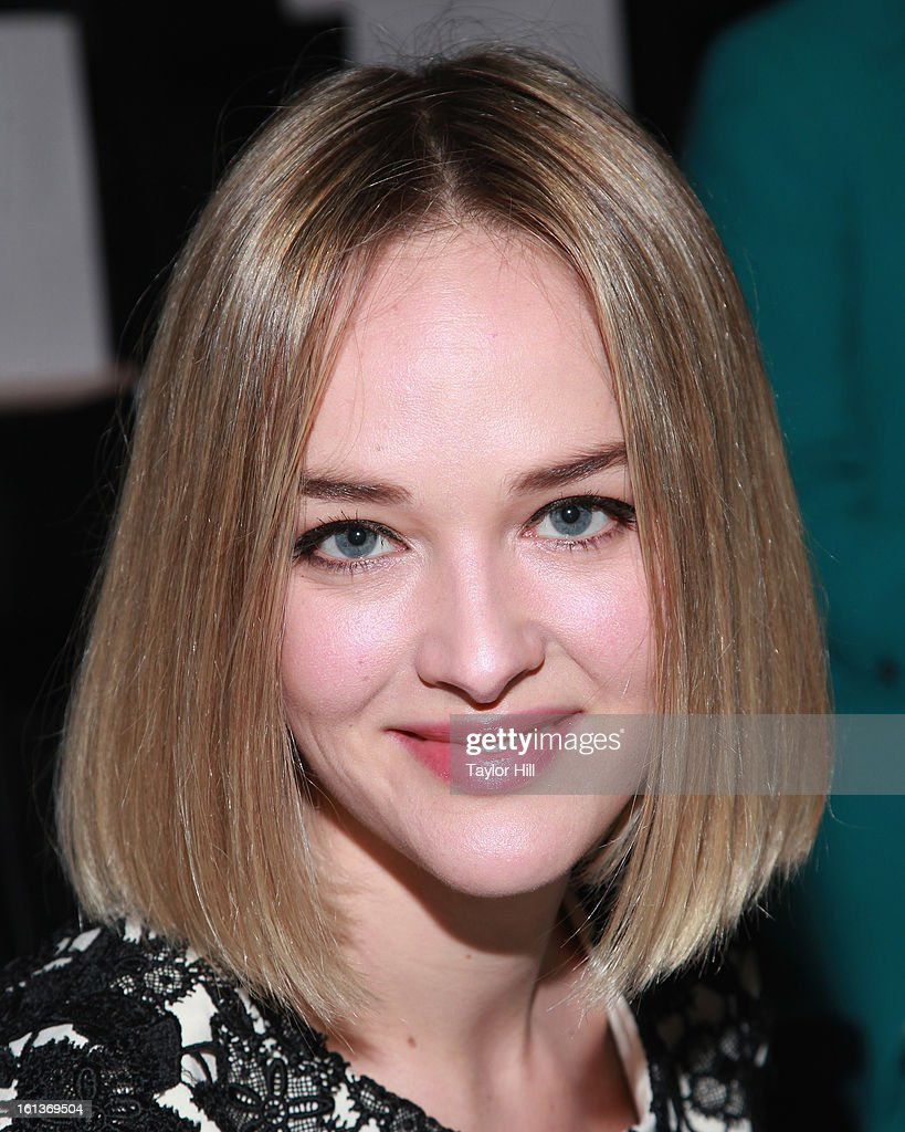 Actress <a gi-track='captionPersonalityLinkClicked' href=/galleries/search?phrase=Jess+Weixler&family=editorial&specificpeople=4117574 ng-click='$event.stopPropagation()'>Jess Weixler</a> attends the Lela Rose Fall 2013 Mercedes-Benz Fashion Show at The Studio at Lincoln Center on February 10, 2013 in New York City.