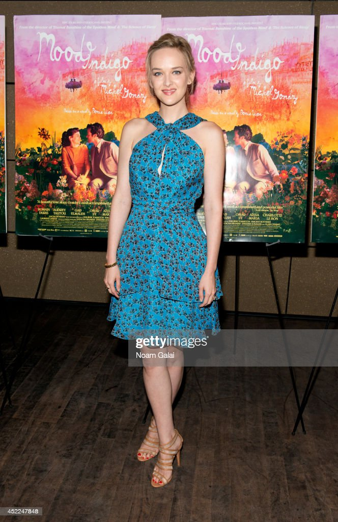 Actress <a gi-track='captionPersonalityLinkClicked' href=/galleries/search?phrase=Jess+Weixler&family=editorial&specificpeople=4117574 ng-click='$event.stopPropagation()'>Jess Weixler</a> attends the 'Mood Indigo' New York Premiere at Tribeca Grand Hotel on July 16, 2014 in New York City.