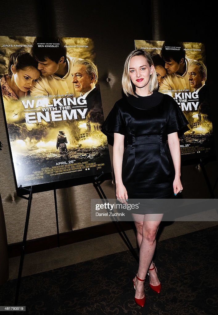 Actress <a gi-track='captionPersonalityLinkClicked' href=/galleries/search?phrase=Jess+Weixler&family=editorial&specificpeople=4117574 ng-click='$event.stopPropagation()'>Jess Weixler</a> attends the 'Walking With The Enemy' screening at Dolby 88 Theater on March 31, 2014 in New York City.
