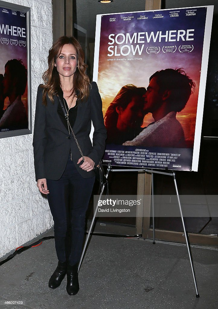 Actress <a gi-track='captionPersonalityLinkClicked' href=/galleries/search?phrase=Jessalyn+Gilsig&family=editorial&specificpeople=793163 ng-click='$event.stopPropagation()'>Jessalyn Gilsig</a> attends a screening of Logolite Entertainment & Screen Media Films' 'Somewhere Slow' at Arena Cinema Hollywood on January 31, 2014 in Hollywood, California.