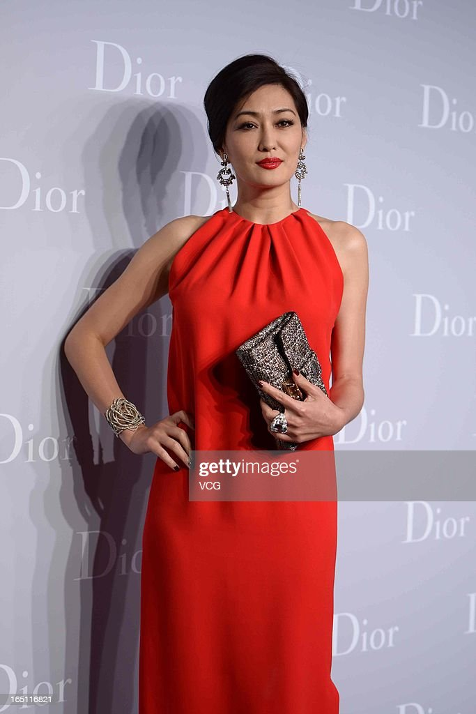 Actress Jessey Meng attends Christian Dior S/S 2013 Haute Couture Collection at Five on the Bund on March 30, 2013 in Shanghai, China.