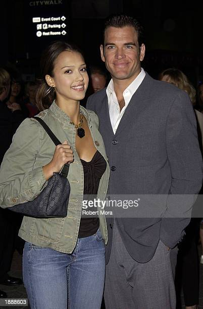 Actress Jessica Alba and boyfriend/actor Michael Weatherly attend the premiere of 'Ghosts of the Abyss' at the Universal City Walk Imax Theatre on...